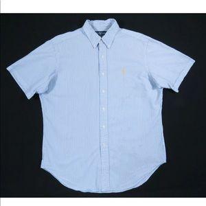Ralph Lauren Classic Seersucker Short Sleeve Shirt